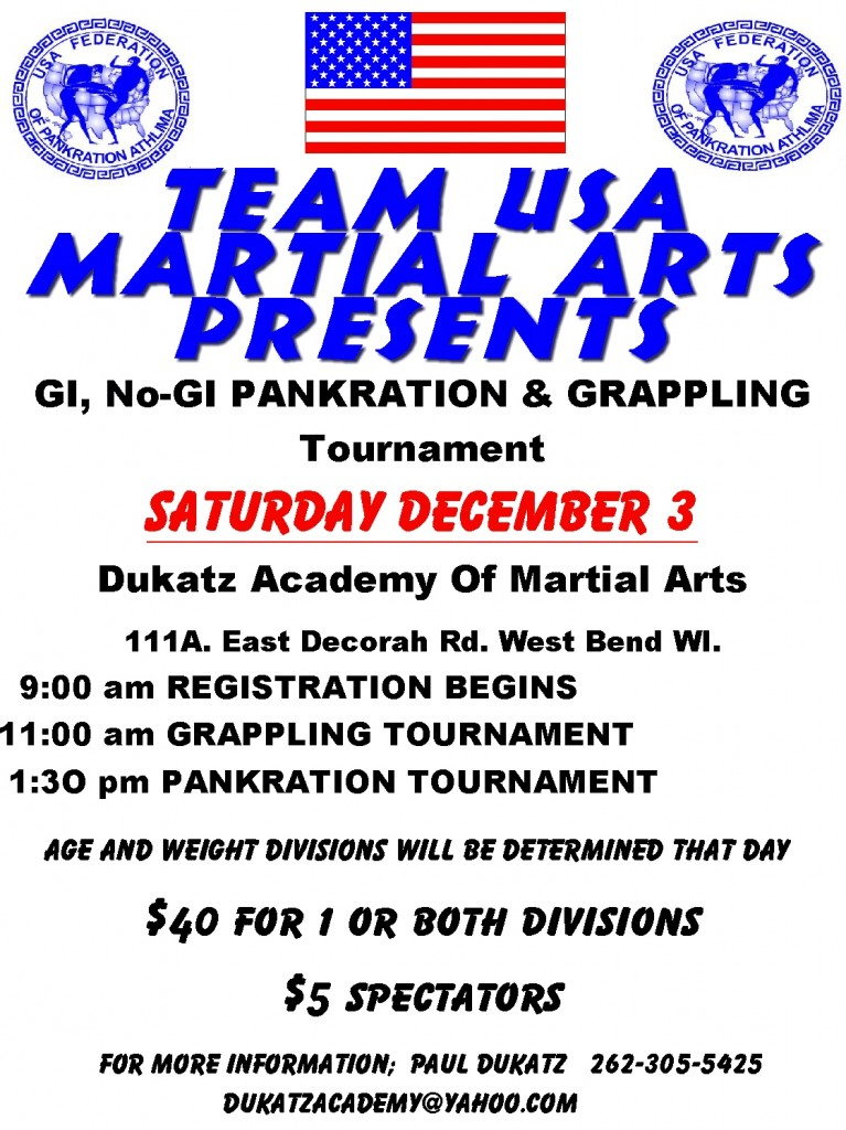 GI and NO-GI Grappling and Pankration Tournament 12-03-11