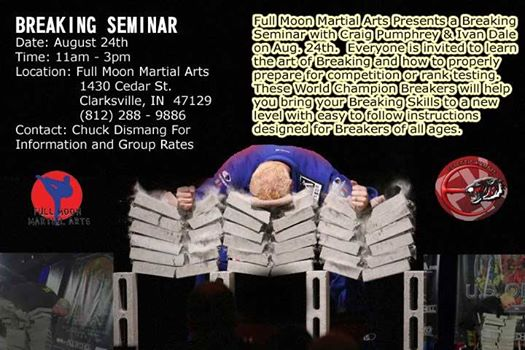 Craig Pumphrey Breaking Seminar Full Moon Martial Arts 082414