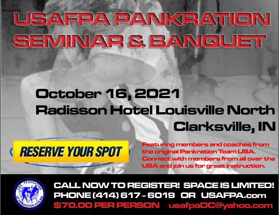 USA Federation of Pankration Athlima hosts the 2021 Pankration Seminar and Banquet